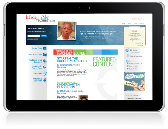 The Leader in Me website