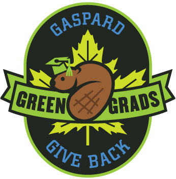 Gaspard Green Grads Give Back Logo Crest