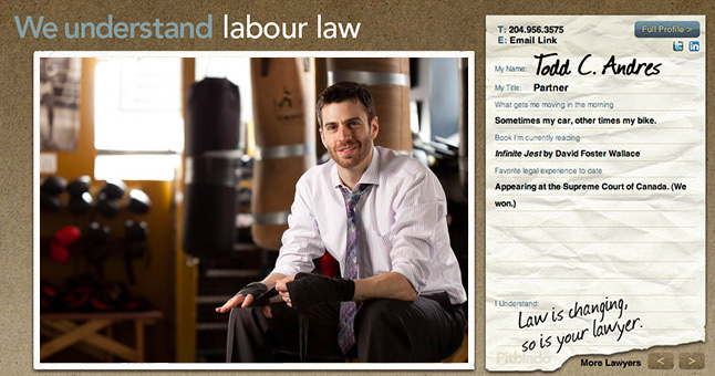 Pitblado Law website