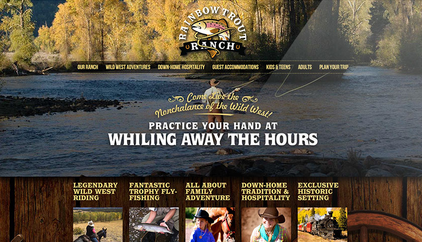 Rainbow Trout Ranch website